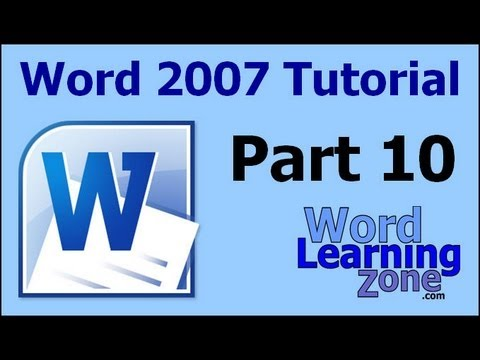 Microsoft Word 2007 Tutorial - part 10 of 13 - Using the Clipboard