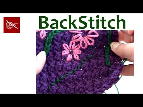 Art of Crochet by Teresa - Embroidery Back Stitch on Crochet