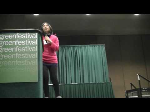 Adora gives her opening keynote at Green Festivals in Seattle