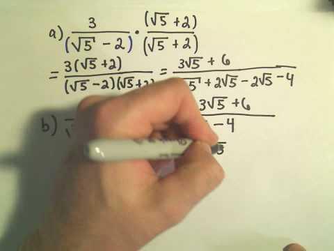 Rationalizing the Denominator - Example 1
