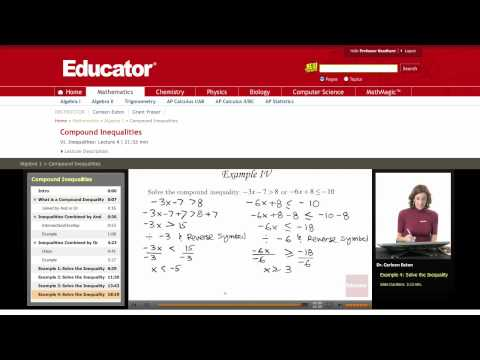 Algebra: Compound Inequalities