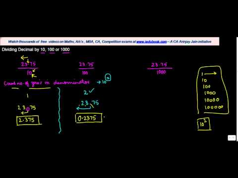 1030.$ CBSE Class VI Maths,  ICSE Class VI Maths -  Dividing Decimal by 10, 100 or 1000