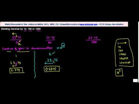 1030.$ CBSE Class VI Maths,  ICSE Class VI Maths -  Dividing Decimal by 10, 100 or 1000