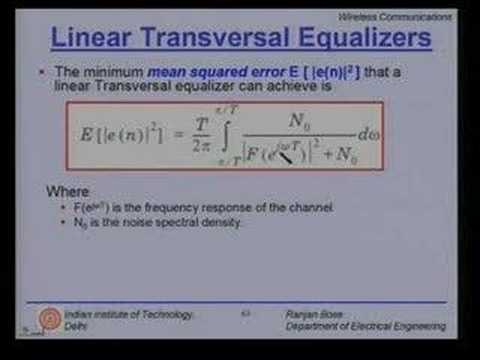 Lecture - 30 Equalization and Diversity Techniques