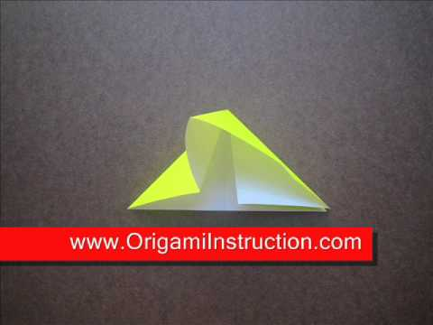 How to fold Origami Waterbomb Base - OrigamiInstruction.com