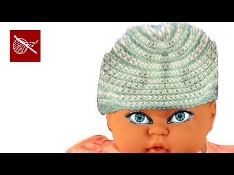Crochet Geek - Stripe Crochet Baby Beanie