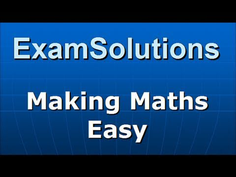Linear Regression for y on x : Least squares method : ExamSolutions