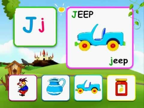 Alphabet reading for kids with  words - J