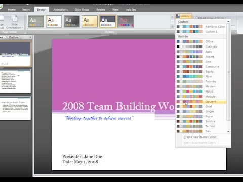 PowerPoint 2007: Themes and Background Styles