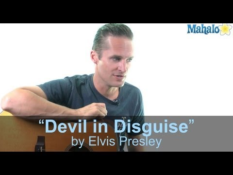 "How to Play ""Devil in Disguise"" by Elvis Presley on Guitar (Practice Cover)"