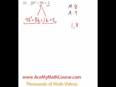 Polynomials - Factoring Trinomials (More Challenging) #6