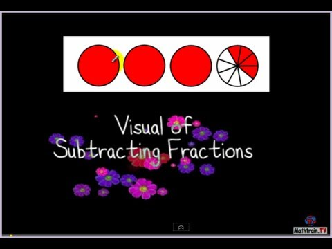 Visual of Subtracting Fractions (mixed numbers)