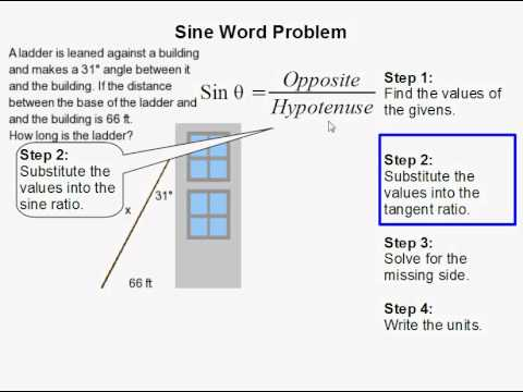 How to Use Sine to Solve a Word Problem