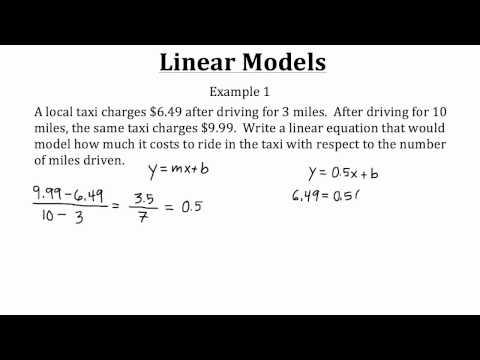 Linear Models PT 1