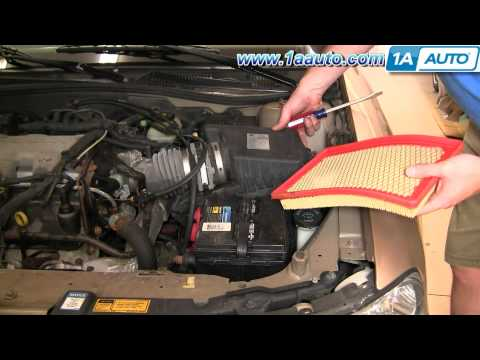 How To Install Replace Engine Air Filter Chevy Malibu 97-03 1AAuto.com