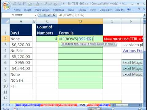 Excel Magic Trick 359: Part 2: Return Multiple Items From One Lookup Value for Column w Formula