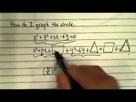 How would I graph this circle? x^2 + y^2 + 5x - 6y = 0