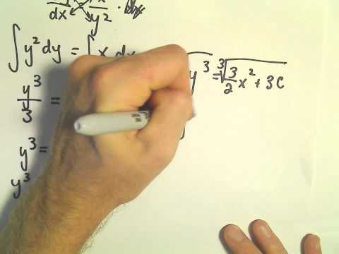 Solving a Separable Differential Equation, Another Example #1