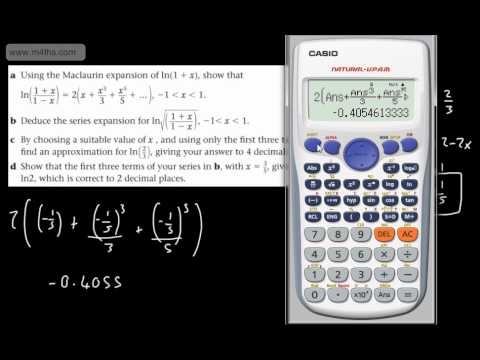 (7) FP2 Maclaurin Series (Log exam question example) Further Maths