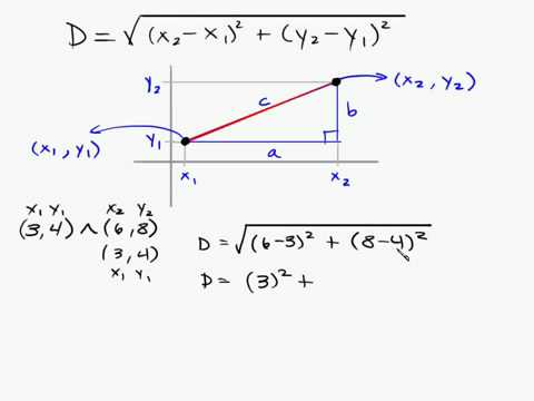 Algebra - Distance Formula Between Two Points Intuitive Math Help