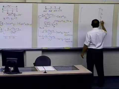 Finite Difference Method for Solving ODEs: Example Beam: Part 2 of 2