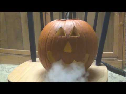 Fog Machine Jack O Lantern - Cool Halloween Idea - Smoking Pumpkin