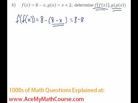 Functions - Function Composition Question #4
