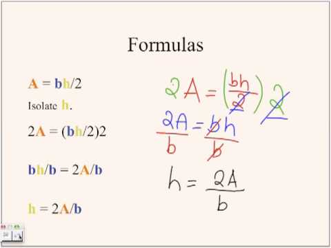 Rearranging Equations by Angel