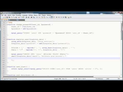 PHP Tutorials: Register & Login (Part 14): Email Activation (Part 2)