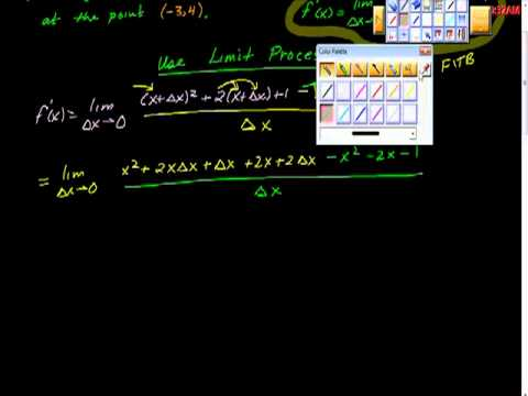 Limit Process for Derivatives Tangent Line Problem AP calculus