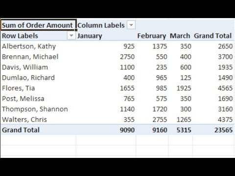 Excel 2010: Pivot Tables Pt1