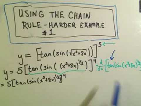Using the Chain Rule - Harder Example #1