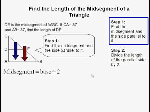 How to Find the Length of a Triangle Midsegment