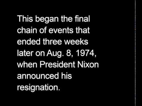 Nixon subpoenaed for Watergate Tapes