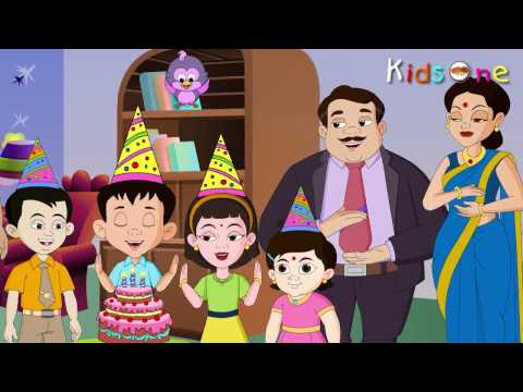 Happy Birthday - Nursery Rhymes - English Animated Rhymes