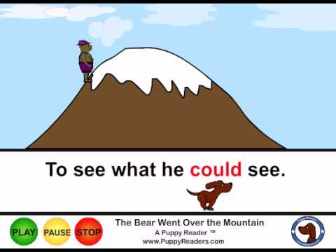 The Bear Went Over the Mountain Animated Song for Kids