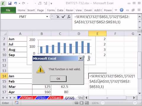 Excel Magic Trick 732: SERIES Chart Function