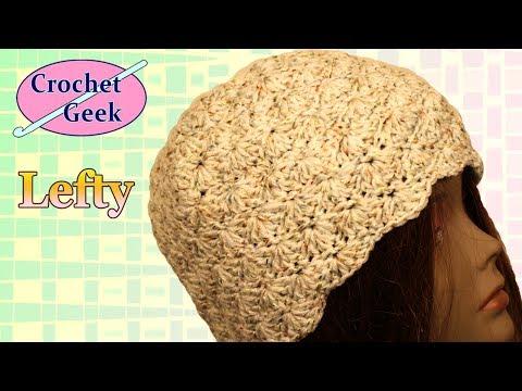 Left Hand Crochet Shell Beanie Hat