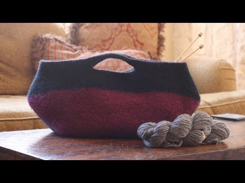 Learn to Felt - Knitted Purse