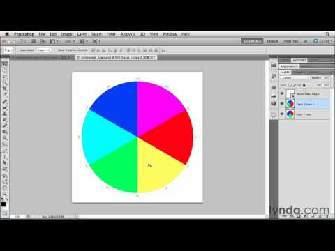 Photoshop tutorial: How to create a color wheel | lynda.com