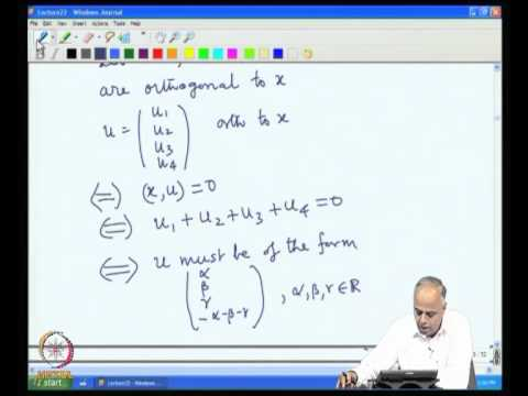 Mod-07 Lec-22 Inner Product and Orthogonality Part 1