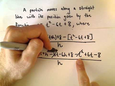 Instantaneous Velocity Using Limit Definition of Derivative