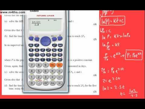(q8) Core 4 June 2007 Edexcel Past Paper differential equations