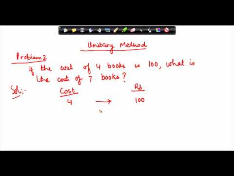 $ CBSE Class VI Maths,  ICSE Class VI Maths -   Unitary Method Problem 2