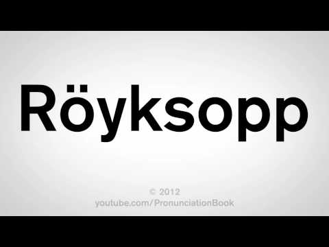 How To Pronounce Royksopp