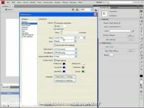 ActionScript 3.0 Intro 3: ActionScript Preferences