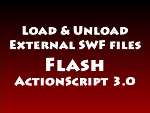 Load & Unload Multiple External SWF files Tutorial in Flash ActionScript 3.0 CS3 CS4 CS5.5
