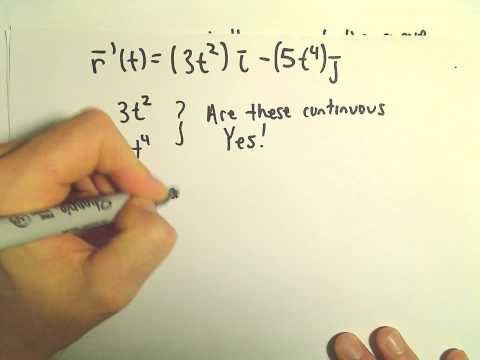 Smooth Vector Functions, Ex 1