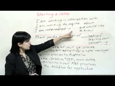 Writing in English - How to Start Any Letter