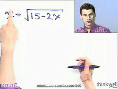 Int Algebra: Solving Equations Containing Radicals